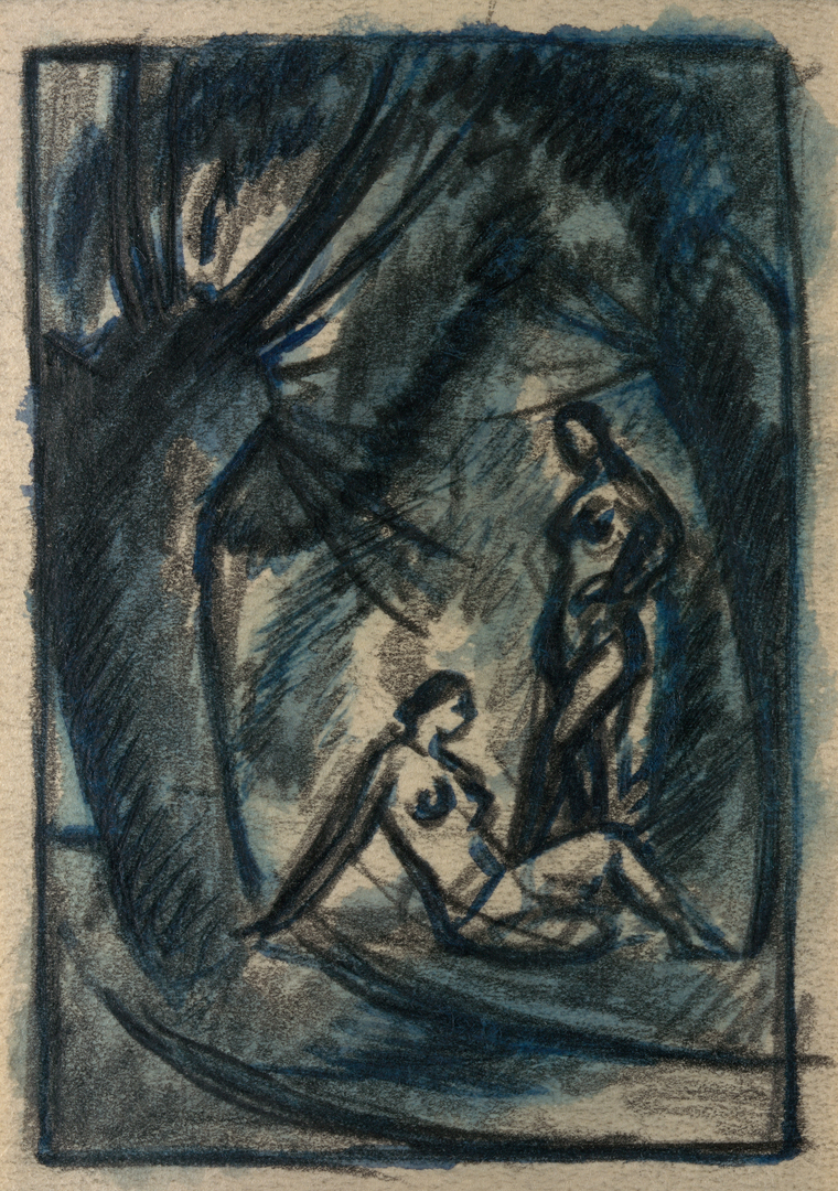 DEUX JEUNES FILLES NUES SOUS LES ARBRES (TWO YOUNG GIRLS NAKED BENEATH THE TREES)