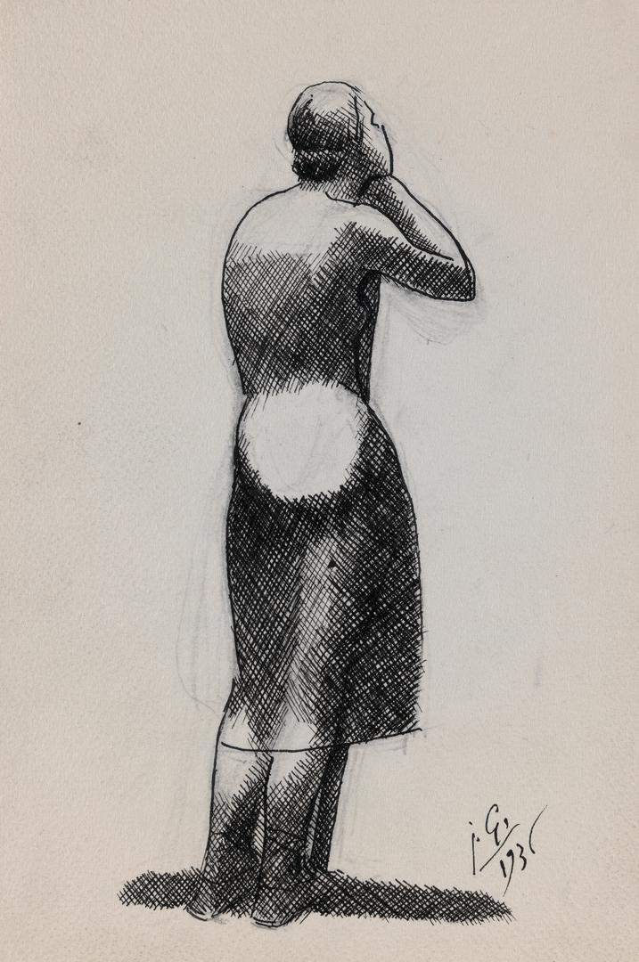 FEMME AU BATON