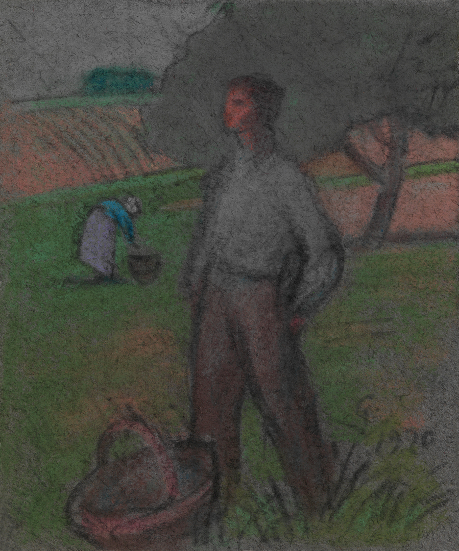 PAYSAN AVEC PANIER (FARMER WITH BASKET)