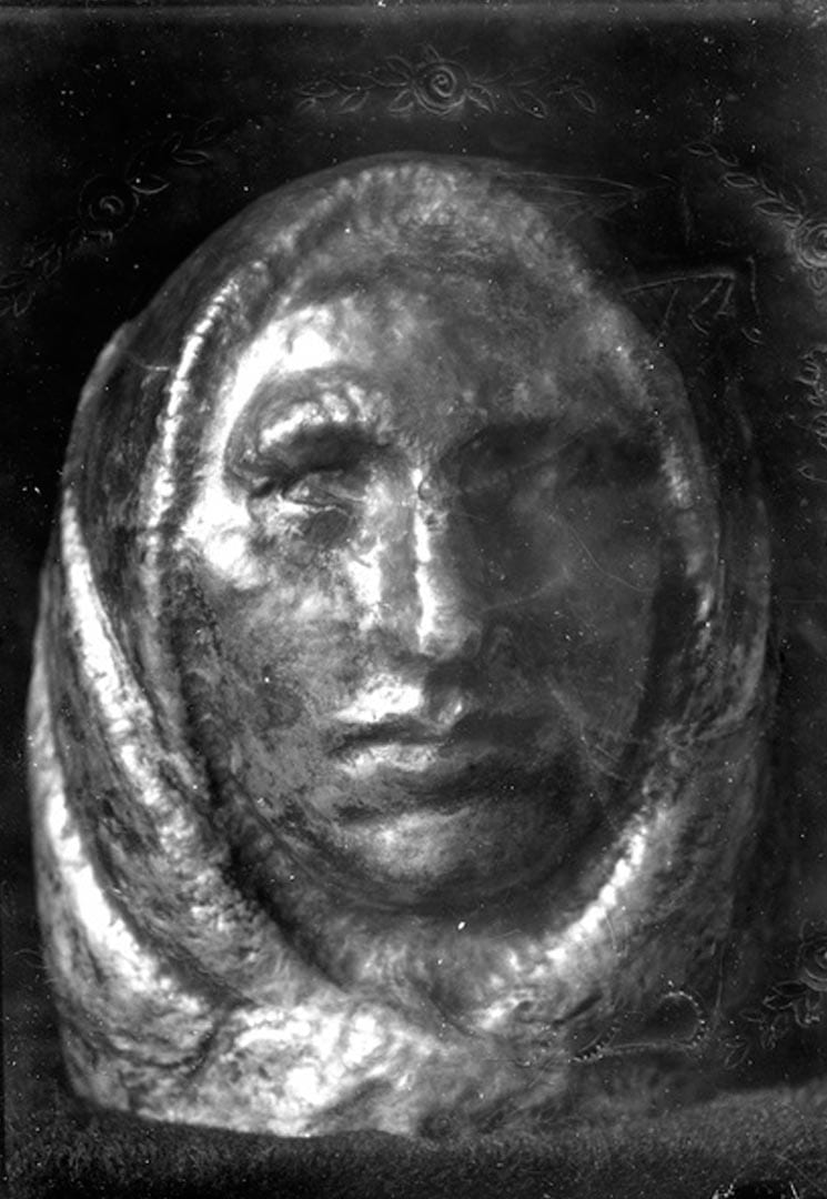 HEAD OF PEASANT WITH HEADSCARF