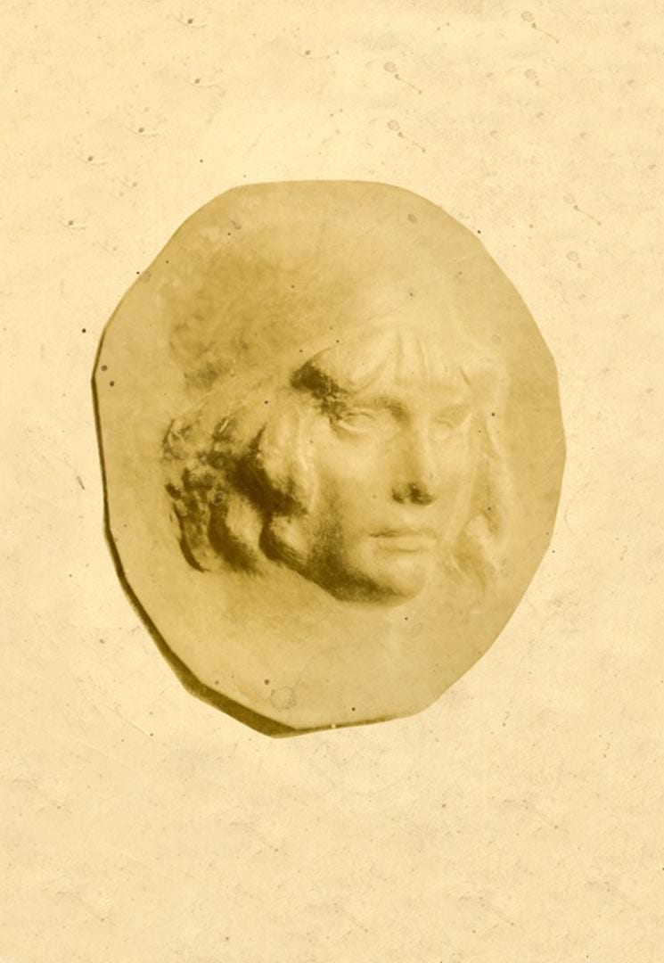 PORTRAIT D'UNE JEUNE FEMME – RELIEF – PORTRAIT OF A YOUNG WOMAN – EMBOSSED