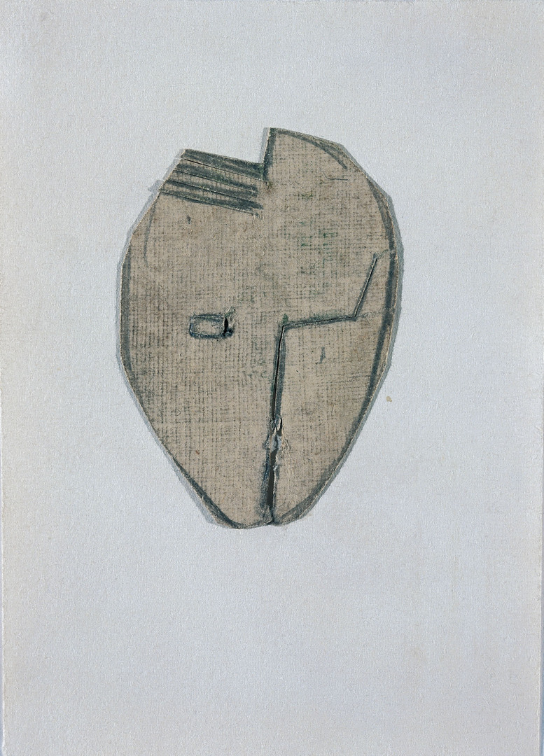 ETUDE POUR PETIT MASQUE À L'OEIL CARRÉ (STUDY FOR LITTLE MASK WITH SQUARE EYE)