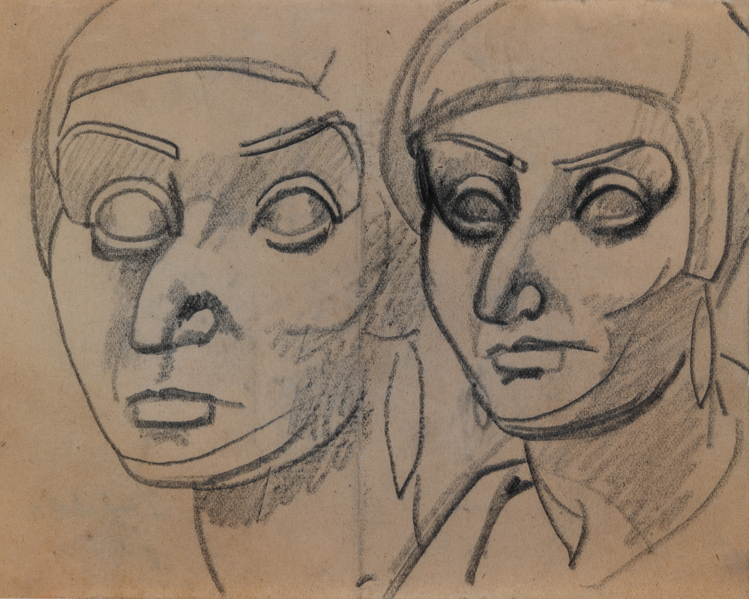 ETUDES DE TÊTES DE FEMMES AUX BOUCLES D'OREILLES (STUDIES OF HEADS OF WOMEN WITH EARRINGS)