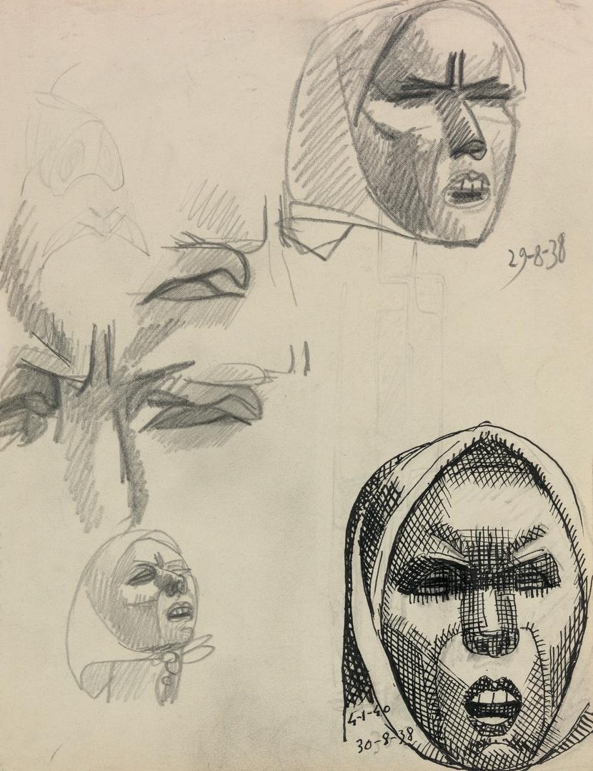 ETUDES DE VISAGES DOULOUREUX (STUDIES OF FACES IN PAIN)