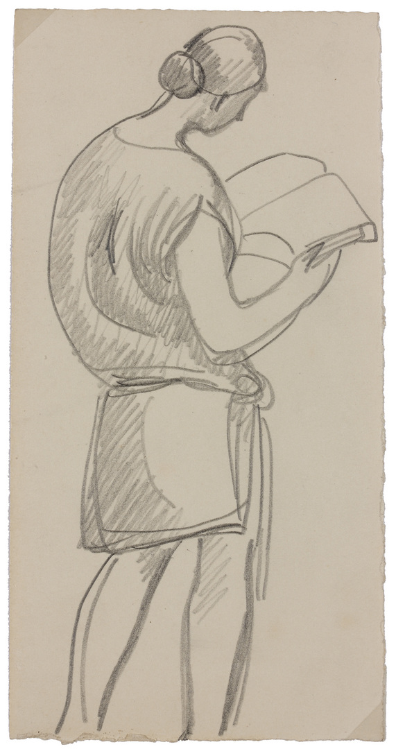 FEMME DE DOS LISANT (WOMAN READING FROM BEHIND)
