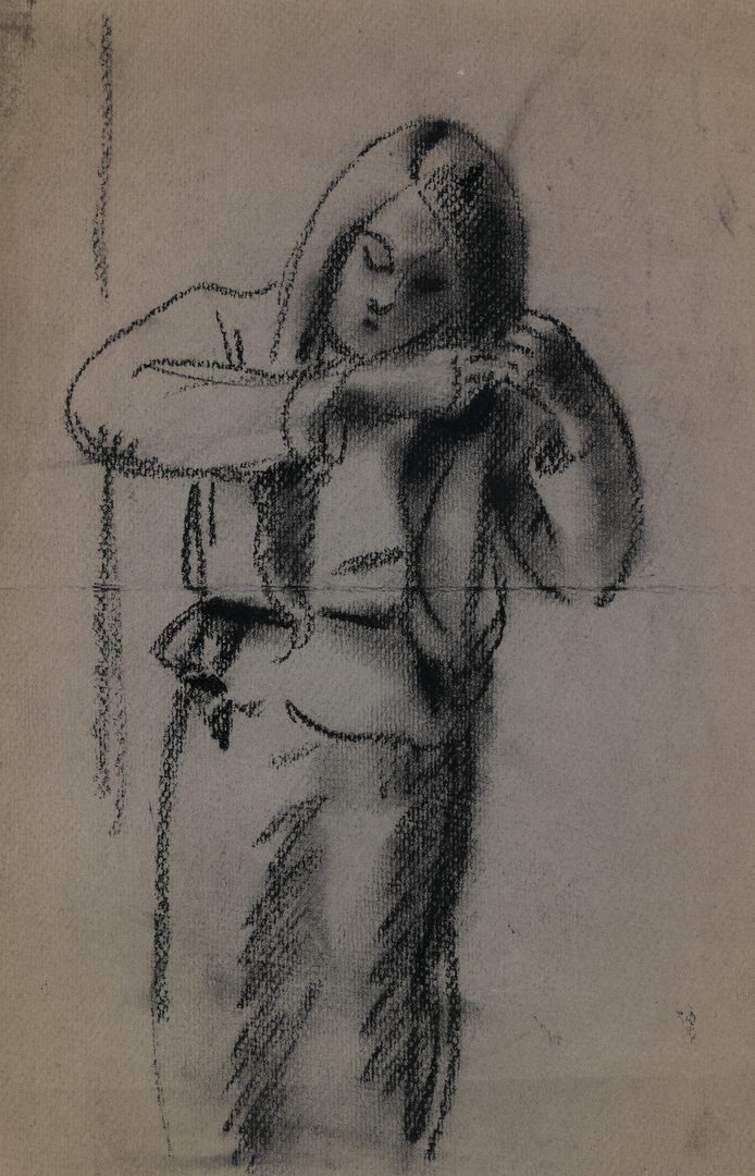 JEUNE FILLE SE COIFFANT (YOUNG GIRL COMBING HER HAIR)