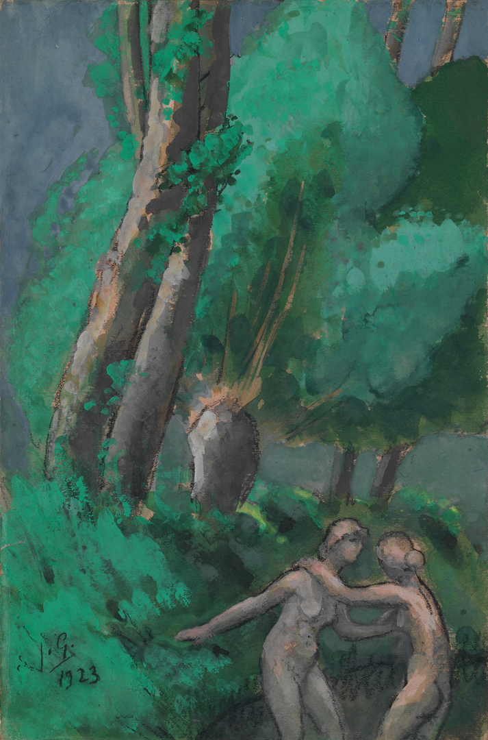 LES DEUX NUS AUX ARBRES (THE TWO NUDES WITH TREES)