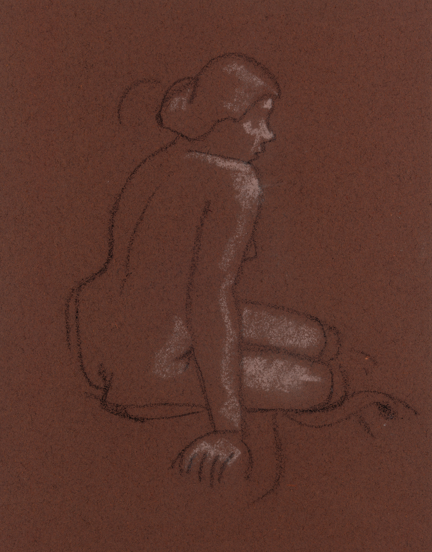NU ASSIS DE DOS (SITTING NUDE FROM BEHIND)