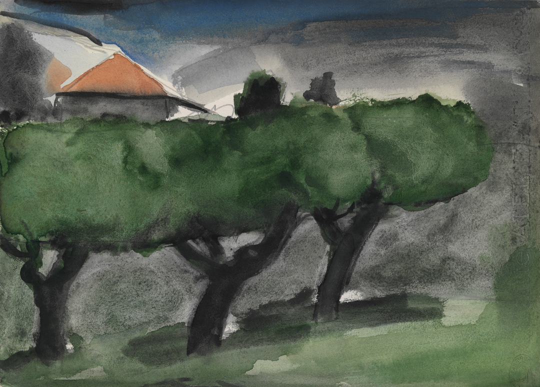 TOIT ET LES TROIS ARBRES (ROOF AND THE THREE TREES)